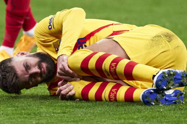 Barcelona will have to wait and see the injury caused to Pique